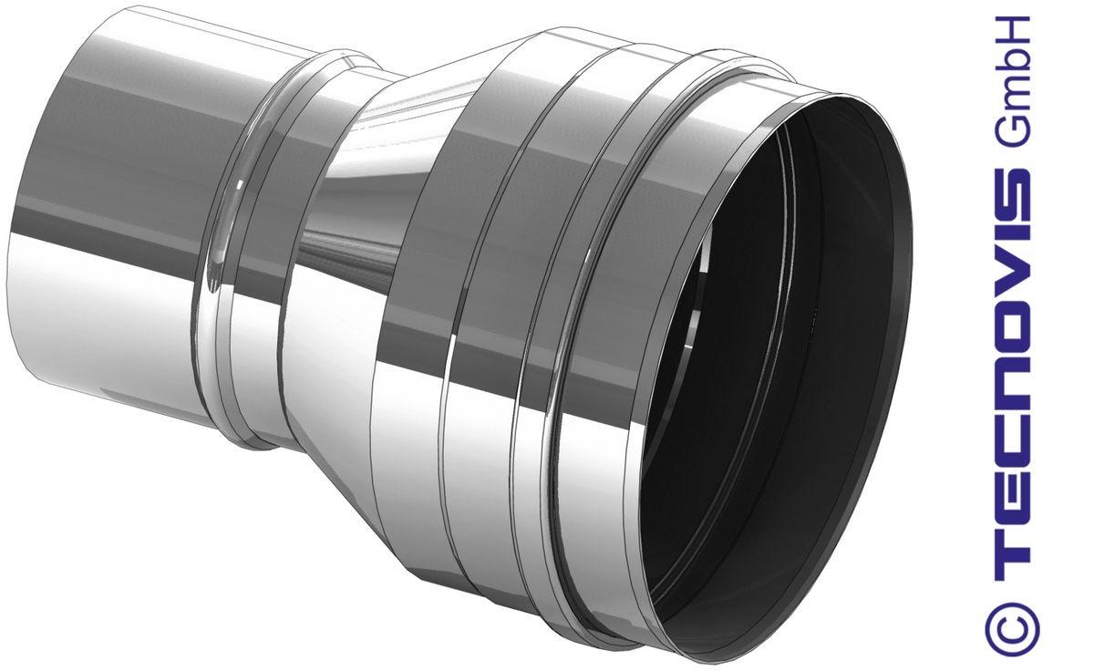 Übergang Pelletrohr 80 auf 150 mm