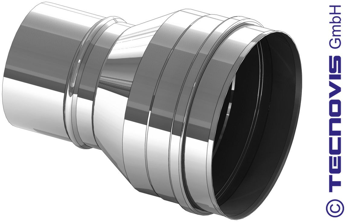 Erweiterung Pelletrohr 80 auf 130 mm
