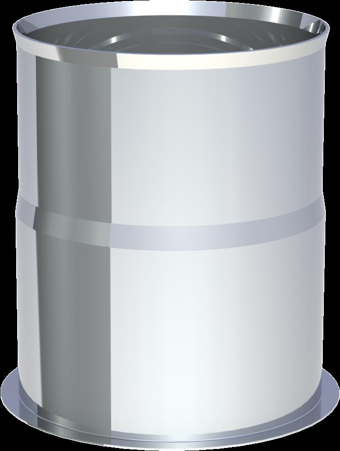 Wandfutter Edelstahl druckdicht 80 mm