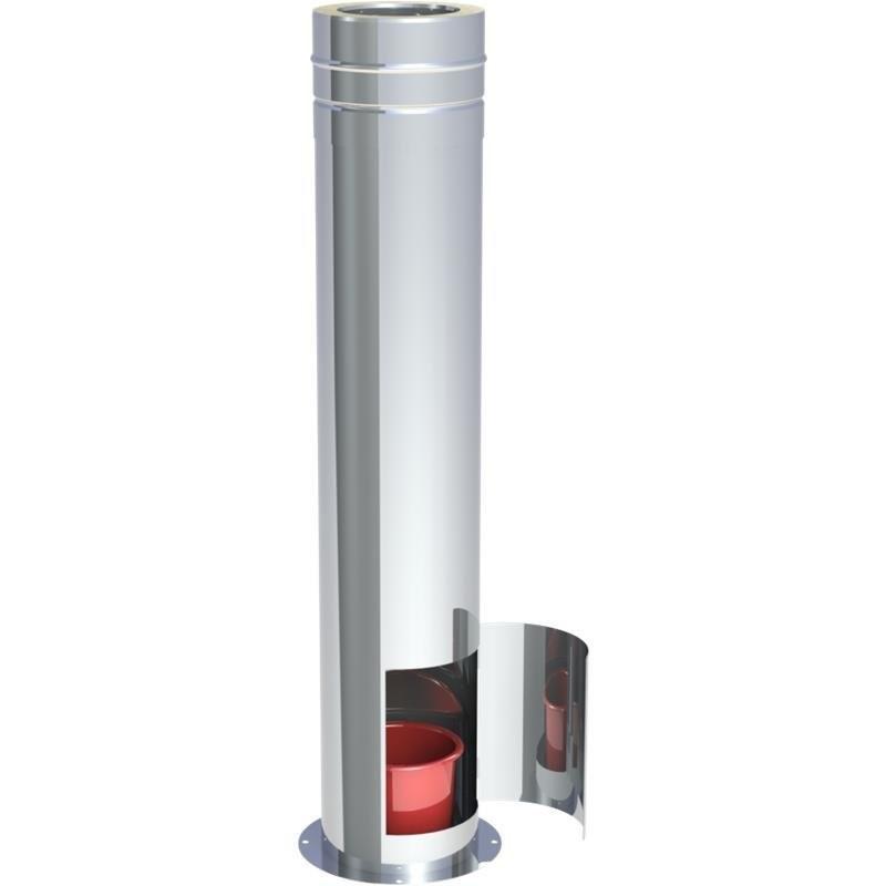 Teleskopstütze mit Tür für Kondensatauffangbehälter  61 - 119 cm