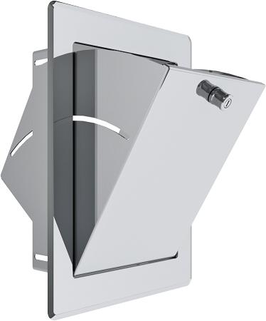 Einwurftüre 340 x 450 mm mit Türschloss, weiß lackiert
