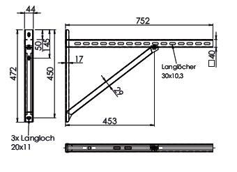 Wandkonsole TYP3 (Paar) Abstand bis 50.5 cm