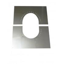 Blendbleche zweiteilig 0-30°mit Hinterlüftung 130 mm